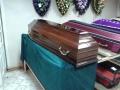 Гроб деревянный полированный