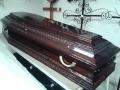 Гроб деревянный полированый с резьбой